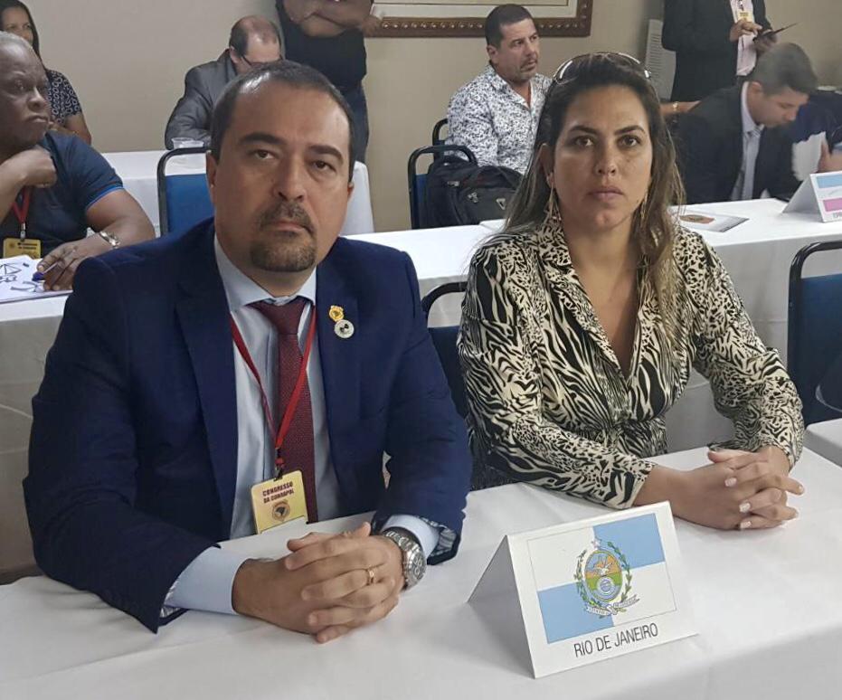 Marcio Garcia, Diretor de Segurança Pública da COBRAPOL e presidente do SINDPOL-RJ e Aline Cavalcante, Diretora de Assuntos Parlamentares da COBRAPOL e do SINDPOL-RJ